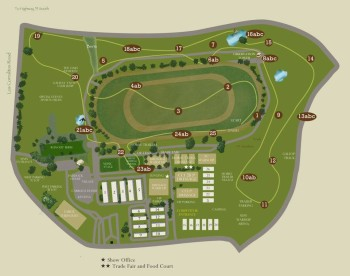 2017 CCI3* course map at Galway Downs.